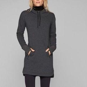 Athleta grey cozy karma hoodie dress